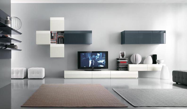 Giải pháp chọn kệ tivi phòng khách cho nhà có màu trắng chủ đạo