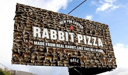 bảng hiệu xác thỏ