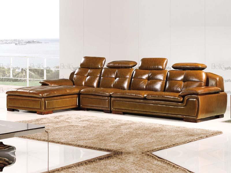 Mẫu thiết kế sofa da cao cấp H58 cho phòng khách hiện đại